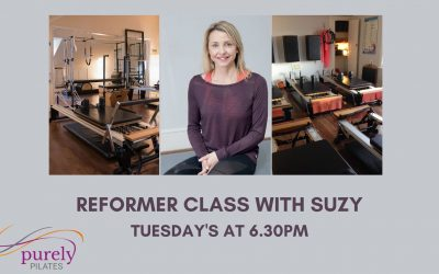 Reformer with Suzy Tuesday's at 6.30pm